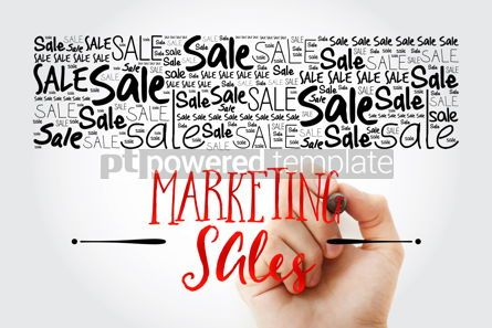 Business: MARKETING SALES circle stamp word cloud with marker business co #15474