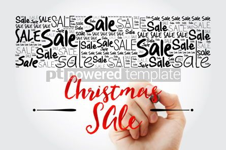 Business: Christmas SALE words cloud collage business concept background #15475