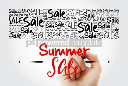 Business: SUMMER SALE word cloud background business concept #15476