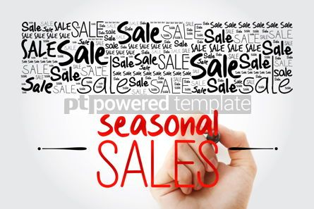 Business: SEASONAL SALES word cloud collage business concept background #15487
