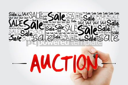 Business: AUCTION word cloud collage business concept background #15491