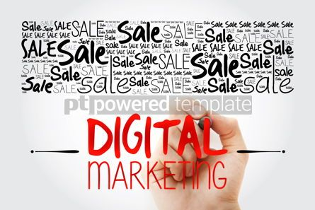 Business: Digital Marketing word cloud collage business concept backgroun #15492
