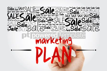 Business: Marketing Plan word cloud collage business concept background #15497