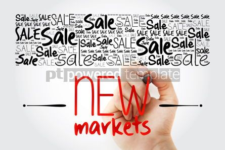 Business: New Markets word cloud collage business concept background #15498