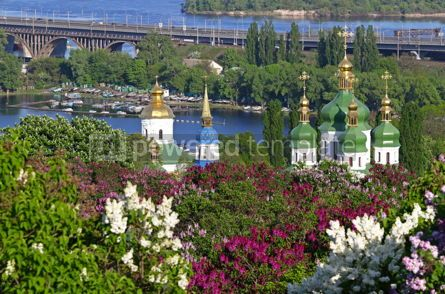 Architecture : Picturesque spring view of Kyiv city Ukraine #15506