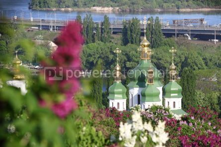 Architecture : Picturesque spring view of Kyiv city Ukraine #15507