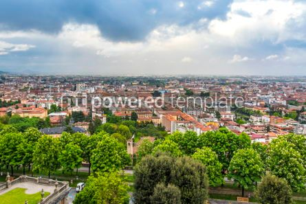 Architecture : Aerial panoramic view of Bergamo city Lombardy Italy #15508