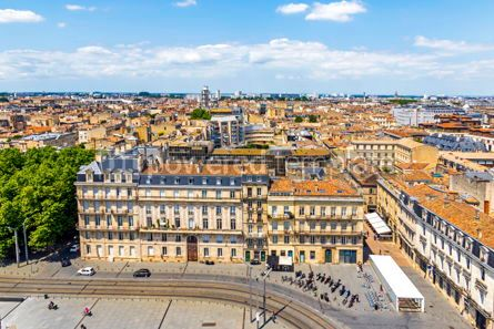 Architecture : Aerial view of Bordeaux old town France #15509