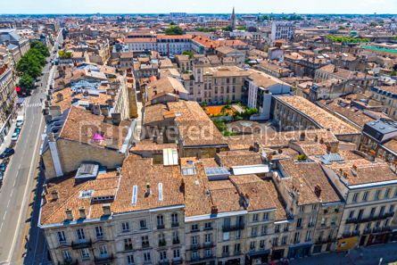 Architecture : Aerial view of Bordeaux old town France #15511