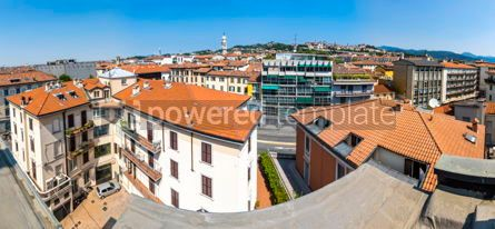 Architecture : Panoramic skyline view of Bergamo city Lombardy Italy #15512