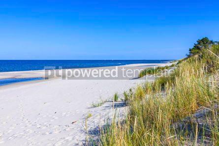 Nature: Beautiful sandy beach on Hel Peninsula Baltic sea Poland #15516