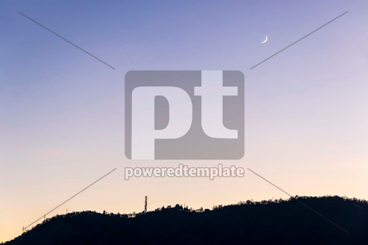 Gradient blue-yellow background of evening sky, 15541, Nature — PoweredTemplate.com