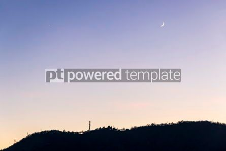 Nature: Gradient blue-yellow background of evening sky #15541