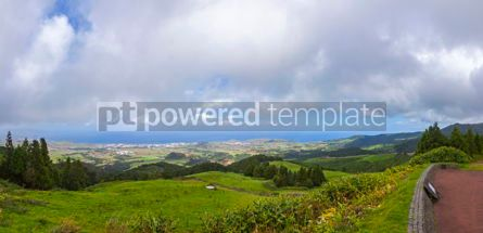 Nature: Picturesque view of North coast of Sao Miguel island Azores Po #15543