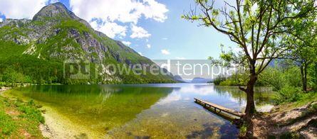 Nature: Panoramic view of Lake Bohinj Julian Alps Slovenia #15545