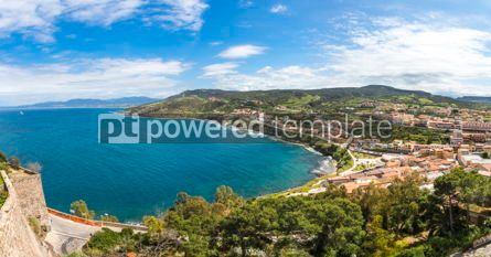 Nature: Panoramic view of Sardinia seacoast Castelsardo Italy #15547