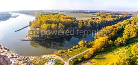 Nature: Confluence of Danube and Morava rivers near Bratislava #15550