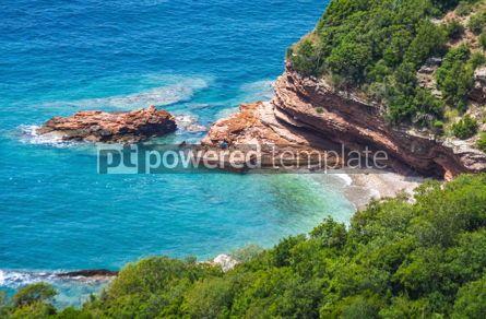 Nature: Adriatic seacoast in Budvan Riviera Montenegro #15562