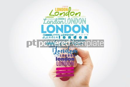 Business: London light bulb word cloud travel concept background #15577