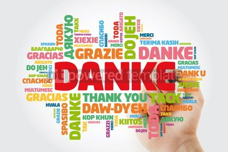 Business: Danke Thank You in German Word Cloud with marker in many langu #15614