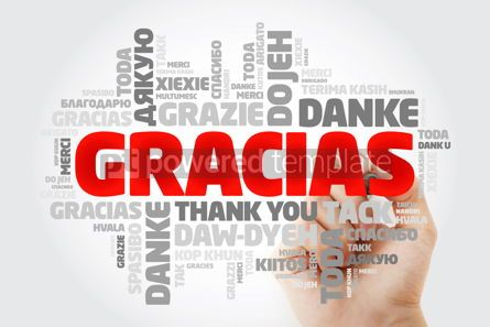 Business: Gracias Thank You in Spanish word cloud in different languages #15619
