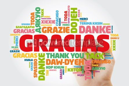 Business: Gracias Thank You in Spanish word cloud in different languages #15620