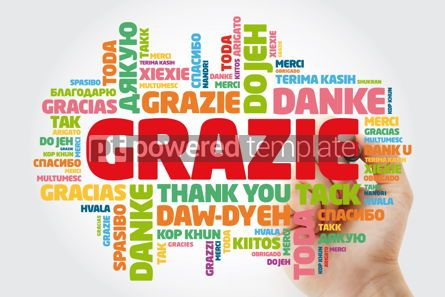 Business: Grazie Thank You in Italian word cloud background in different #15624