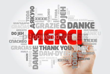 Business: Merci Thank You in French Word Cloud with marker in many langu #15625