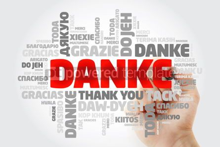 Business: Danke Thank You in German Word Cloud with marker in many langu #15627