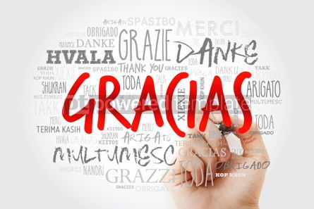Business: Gracias Thank You in Spanish word cloud in different languages #15634