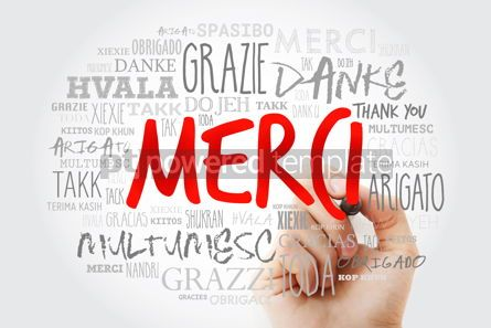 Business: Merci Thank You in French Word Cloud with marker in many langu #15640
