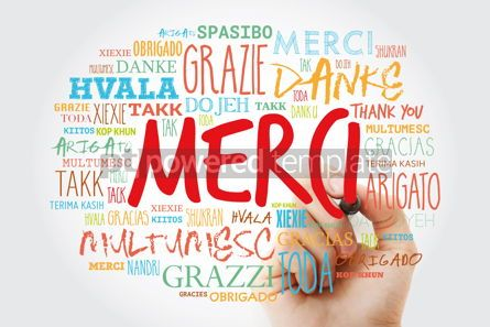 Business: Merci Thank You in French Word Cloud with marker in many langu #15641