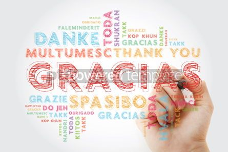 Business: Gracias Thank You in Spanish word cloud in different languages #15649