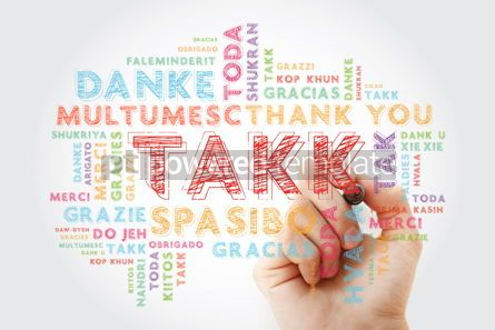 Business: Takk Thank You in Icelandic Word Cloud in different languages #15651