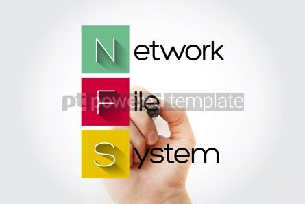 Business: NFS - Network File System acronym with marker technology concep #15680