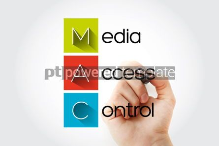 Business: MAC - Media Access Control acronym technology concept backgroun #15688