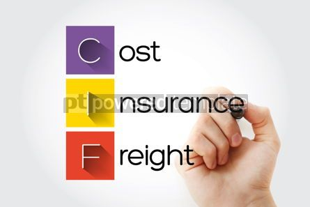 Business: CIF - Cost Insurance Freight acronym with marker business conce #15689