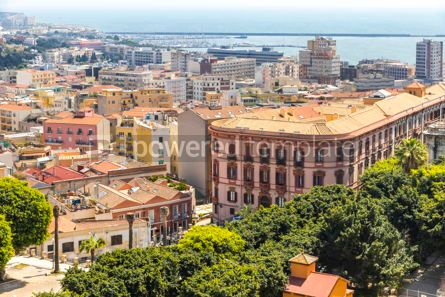 Architecture : Aerial view of Cagliari old town Sardinia Italy #15693