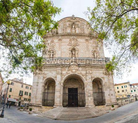 Architecture : San Nicola Cathedral Duomo in Sassari Italy #15696