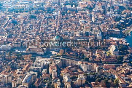 Architecture : Aerial view of City of Como on Lake Como Italy #15698