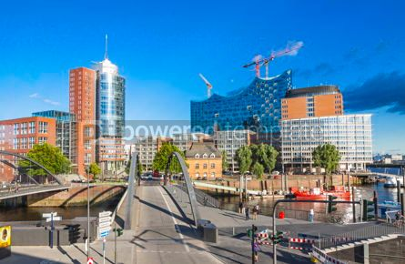 Architecture : Speicherstadt district with Elbphilharmonie building in Hamburg #15709