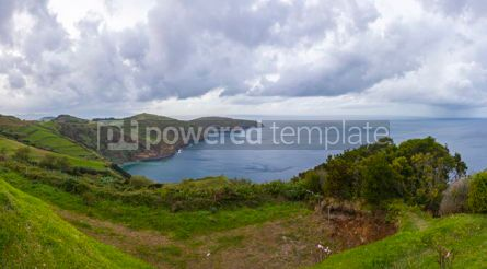 Nature: Picturesque view of North coast of Sao Miguel island Azores Po #15712