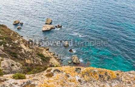 Nature: Rocky seacoast on Sardinia island Italy #15713