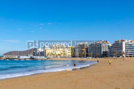 Nature: Las Canteras Beach in Las Palmas de Gran Canaria Spain #15717