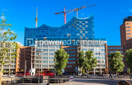 Architecture : Speicherstadt district with Elbphilharmonie building in Hamburg #15721