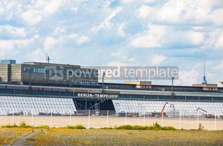 Architecture : Berlin Tempelhof Airport former airport of Berlin Germany #15724