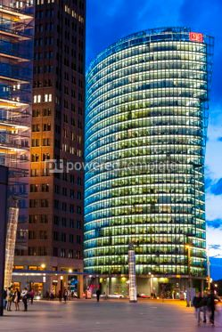 Architecture : Evening view of Potsdamer Platz Berlin Germany #15725