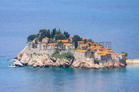 Architecture : Sveti Stefan island Adriatic sea Montenegro #15727