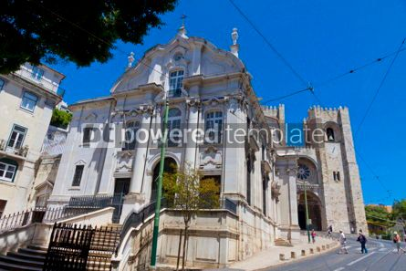 Architecture : Santo Antonio Church and Lisbon Cathedral Portugal #15731