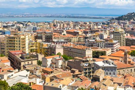 Architecture : Aerial view of Cagliari old town Sardinia Italy #15734
